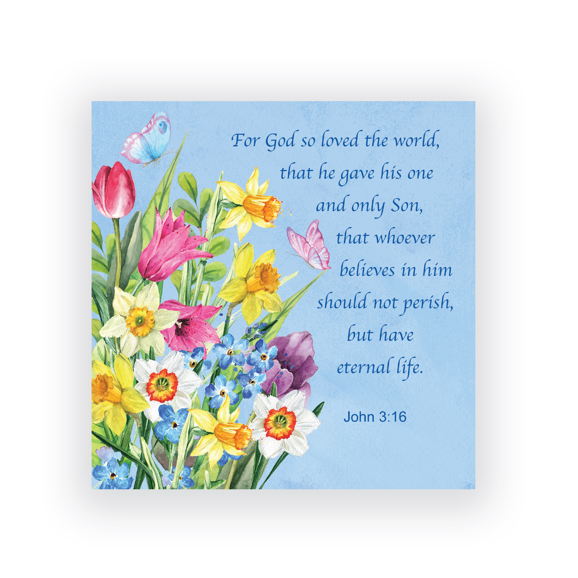 4 Spring Flowers Easter Cards Tlm Trading